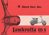 Lambretta Scooter (Li 4 Speed Gear Box) Vintage Style Poster Masterprint
