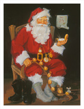 Santa In Chair Prints by Susan Comish