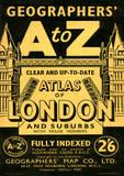 A-Z Vintage Style Travel Poster Masterprint