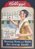 Vintage Kelloggs (Morning, Noon & Night) Advertisment Poster Masterprint