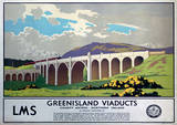 Greenisland Viaducts Vintage Style Travel Poster Masterprint