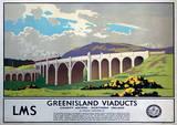 Greenisland Viaducts Vintage Style Travel Poster Masterprint