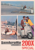 Lambretta Scooter (200 Sx) Vintage Style Poster Masterprint