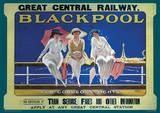 Blackpool England Vintage Style Travel Poster Print Masterprint
