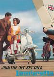 Lambretta Scooter (Jet Set) Vintage Style Poster Masterprint