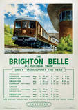 Brighton Belle Vintage Style Travel Poster Masterprint