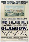 Glasgow International Exhibition (England) Vintage Style Travel Poster Masterprint