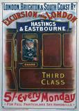 London Brighton England Vintage Style Travel Poster Masterprint