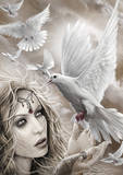 Spiral (Doves Of Peace) Poster Masterprint