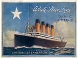 R.M.S. Titanic Vintage Style Travel Poster Reprodukcja arcydzieła