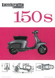 Lambretta Scooter (150S) Vintage Style Poster Masterprint