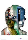 Doctor Who - Davison Television Poster Masterprint