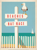 Beaches vs. Rat Race Affiches par  Anderson Design Group