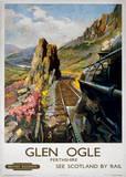 Glen Ogle Vintage Style Travel Poster Masterprint