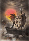 Luis Royo - Black Tinkerbell Vintage Style Fantasy Poster Masterprint