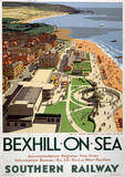 Bexhill On Sea Vintage Style Travel Poster Masterprint