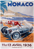 Monaco France (French Rivera) Vintage Style Travel Poster Masterprint
