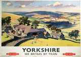 Yorkshire By Train Vintage Style Travel Poster Masterprint