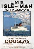 Isle Of Man (Douglas) British Islands Travel Poster Masterprint