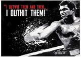 Muhammad Ali - Outwit Outhit Boxing Sports Poster Reprodukcja arcydzieła