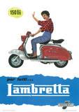 Lambretta Scooter (150 Li) Vintage Style Poster Masterprint