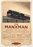 Isle Of Man (The Manxman) British Islands Travel Poster Masterprint