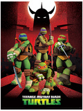 Teenage Mutant Ninja Turtles (Shredder Silhouette) Movie Poster Masterprint