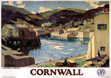 Cornwall Vintage Style Travel Poster Masterprint