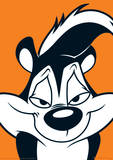 Looney Tunes - Pepe Le Pew Television Poster Masterprint