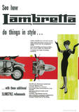 Lambretta Scooter (Do Things In Style) Vintage Style Poster Masterprint