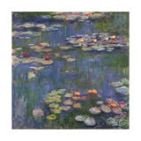 Water Lilies (Nymphéas), c.1916 Print by Claude Monet