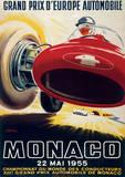 Monaco France (French Rivera) Vintage Style Travel Poster Masterprint