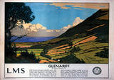 Glenariff Vintage Style Travel Poster Masterprint