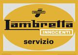Lambretta Scooter - Servizio Vintage Style Travel Poster Masterprint