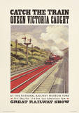 Catch The Train Vintage Style Travel Poster Masterprint