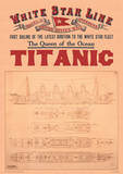 Titanic Vintage Style Travel Poster Masterprint
