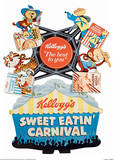 Vintage Kelloggs (Sweet Eatin' Carnival) Advertisment Poster Masterprint