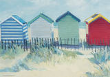 Jane Hewlett (Suffolk Beach Huts) Poster Masterprint