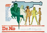 James Bond (Doctor No 007) Movie Poster Print Masterprint