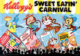 Vintage Kelloggs (Sweet Eatin' Carnival Land) Advertisment Poster Masterprint
