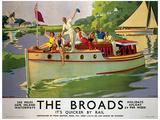 Norfolk Broads England Vintage Style Travel Poster Lámina maestra