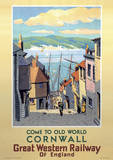 Cornwall Vintage Style Travel Poster Masterprint
