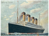 R.M.S. Titanic Vintage Style Travel Poster Masterprint