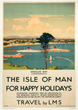 Isle Of Man (Happy Holidays) British Islands Travel Poster Masterprint
