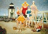 Vacanze sulla spiaggi Stampe di Lowell Herrero