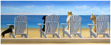 Beach Chair Tails Art by Carol Saxe