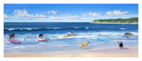 Hot Dogs Surf Print by Carol Saxe