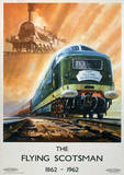 The Flying Scotsman Vintage Style Travel Poster Lámina maestra