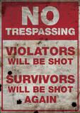 No Trespassing Sign Style Poster Masterprint