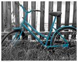 Teal Bike I Print